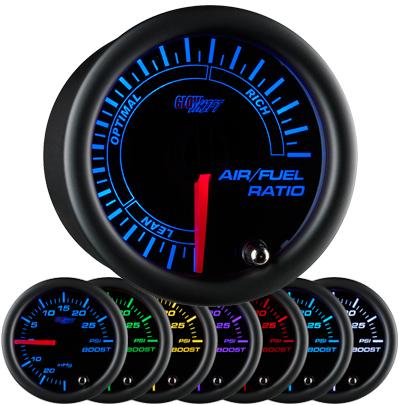 narrow band air fuel ratio gauge, narrowband air fuel ratio gauge, black afr gauge, led afr gauge, air fuel gauge