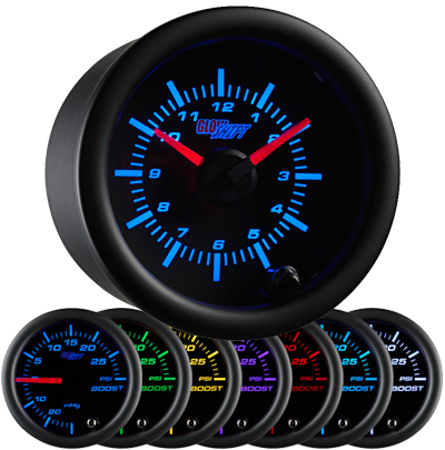 7 color clock gauge, led clock gauge, black clock gauge, led clock for car