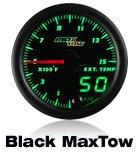 black max tow gauge, 10 color, diesel gauge