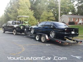 YourCustomCar.com, custom 96 impala ss, impala on trailer, 2011 drop em wear show