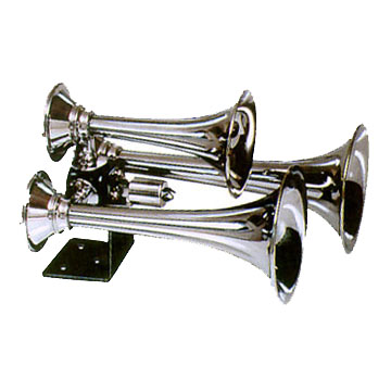 triple train horn, cvhrome train horn, loudest train horn, metal