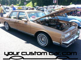 custom oldsmobile, friends in low places car show, custom wire wheels