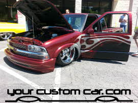 custom painted s10, friends in low places, car show