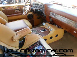 custom c10 interior, friends in low places, car show