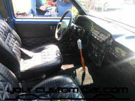 custom harbody interior, friends in low places, car show