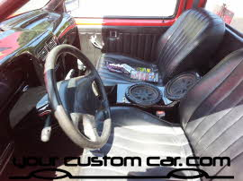 custom center console, friends in low places, car show