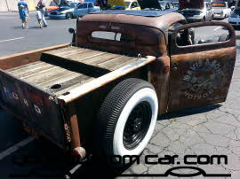 custom rat rod, friends in low places, car show