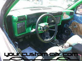 custom s10 interior, friends in low places, car show