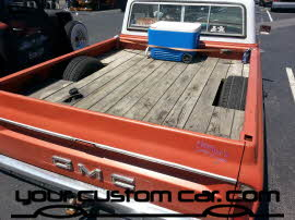 body dropped gmc, c10, air bag suspension, friends in low places, car show