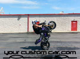 stunt bike, wheelie, friends in low places, car show