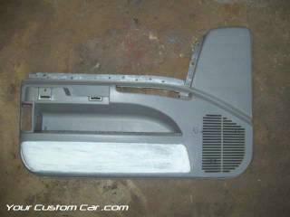 disassembled door panel, driver side, impala door panel