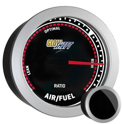 tinted, needle, narrow band, air fuel ratio gauge, narrowband air fuel ratio gauge, black afr gauge, led afr gauge, air fuel gauge