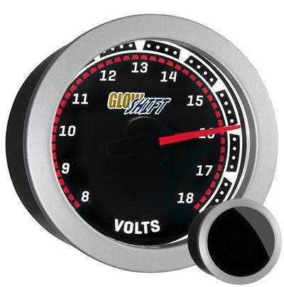 tinted , black face, volt, gauge, car battery gauge, led volt gauge, 12 volt gauge