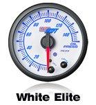 white car gauge, white truck gauge, performance gauge, led gauge