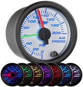 air suspension gauge, air bag gauge, air ride gauge, 200psi air gauge