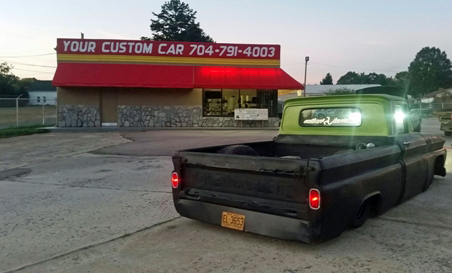 your custom car, retail store front, custom car, custom truck, air bag suspension, concord, nc