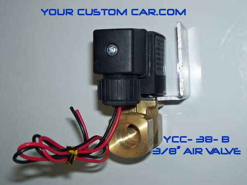air valve, air bag suspension, 3/8 valve, brass, air ride valve, air bag valve, ycc-38-b