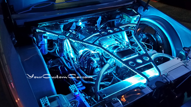 custom impala ss engine, 96 impala ss, chrome lt1, billet lt1, show engine