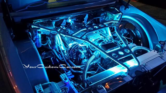 custom impala ss engine, 96 impala ss, chrome lt1, billet lt1, show engine