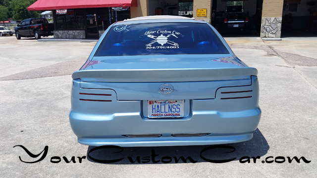 impala ss rear, shaved tail lights, taillights, impala ss with rollpan, custom spoiler