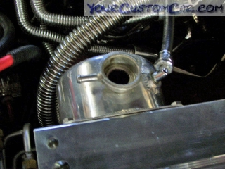 impala ss coolant, cooling system moroso coolant tank, coolant bleeder valve, bleed valve, radiator valve, air in coolant, coolant bleed