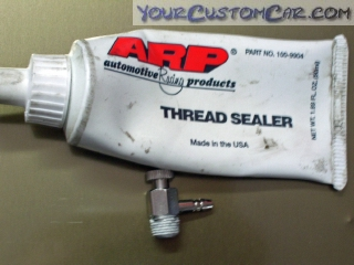 arp thread sealant, sealer, coolant bleeder valve, bleed valve, radiator valve, air in coolant, coolant bleed
