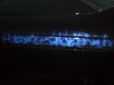 True flames on the quater panels