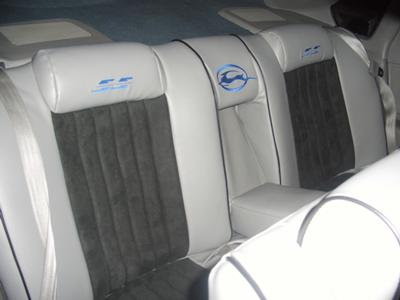 custom seats suede and leather.