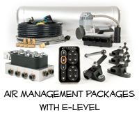AccuAir Air Management Packages with E Level Controller