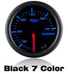 custom gauge black face 7 color led