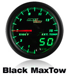 custom gauge black face 7 color led max tow