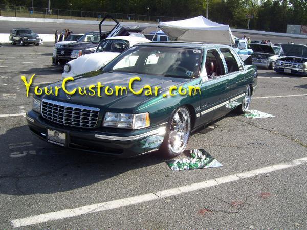 Custom Cadillac on 22 inch Rims