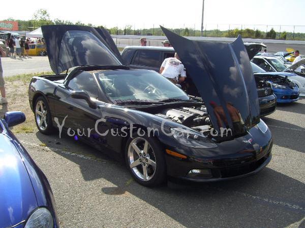 Custom Black Corvette