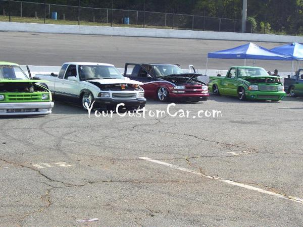 Mini Trucks Lined Up