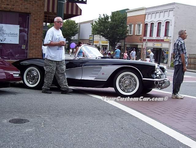 Classic Black Corvette