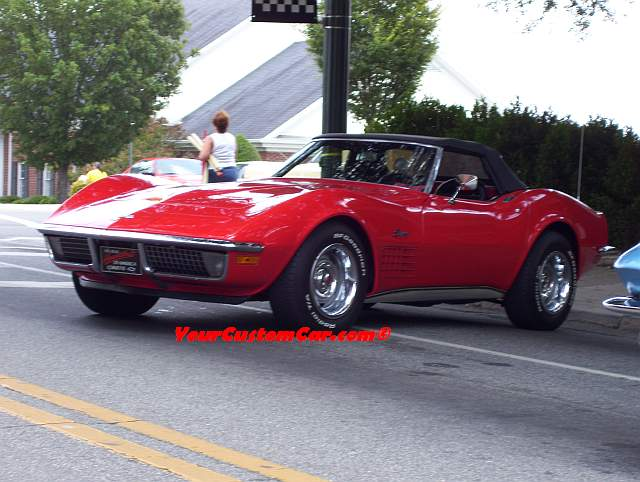 Shiny Red Corvette
