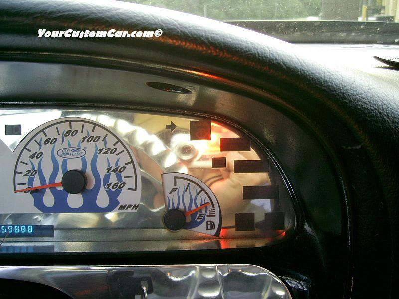 Custom 96 Impala SS Gauge Overlay