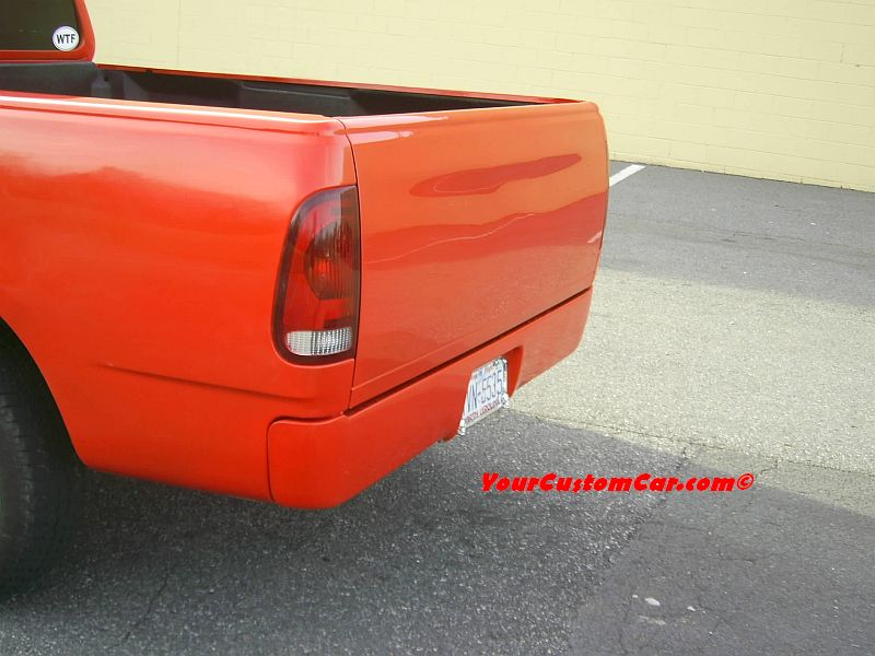 Truck Rear Left, Roll Pan, Shaved Tailgate Handle