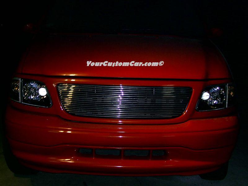 Truck Custom Headlights, Billet Grill