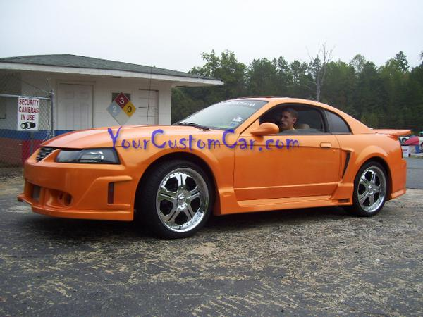 Custom Orange Mustang