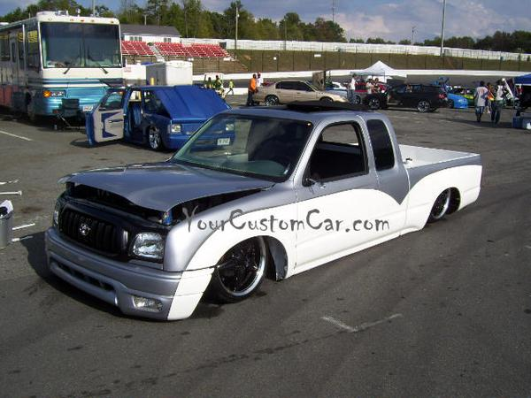 Silver and White Custom Mini Truck