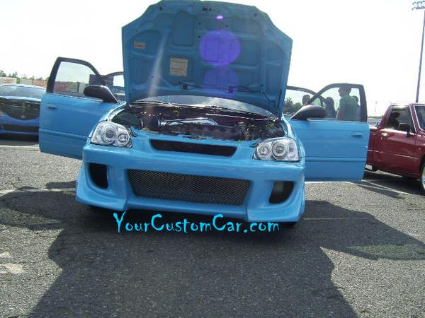 Custom Blue Honda Civic