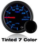 custom gauge black face 7 color led tinted