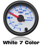 custom gauge white face 7 color led