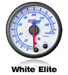 custom gauge elite white face 10 color led