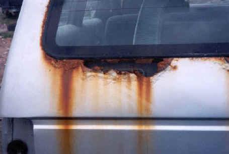 Rust around window