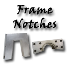 Rear frame step notches for axle clearance at your custom car