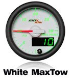 custom gauge white face 7 color led max tow